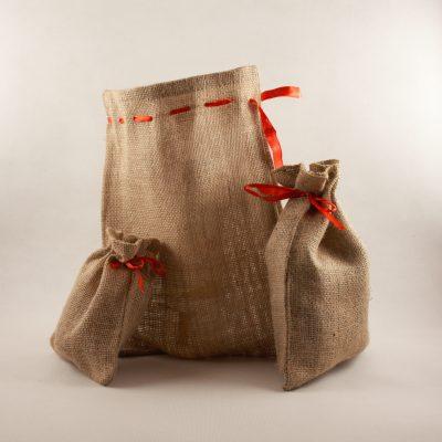 Jutové darčekové vrecká