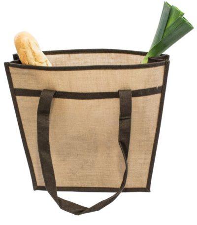 Jutová taška cez rameno