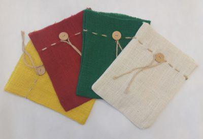 Jutové darčekové vrecká - farebné