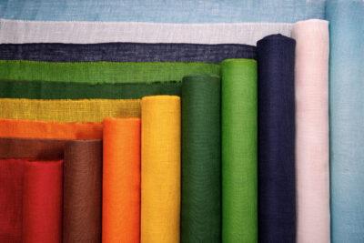 Jutová tkanina 211 g / m2 - farebná