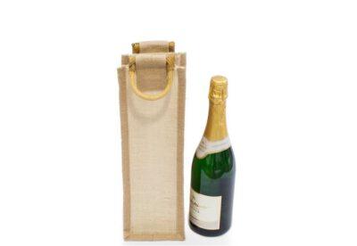 Jutová taška na 1 fľašku bez okienka