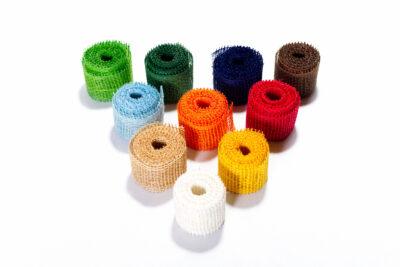 Dekoračné pásky - farebné (4 cm, 3 bm)